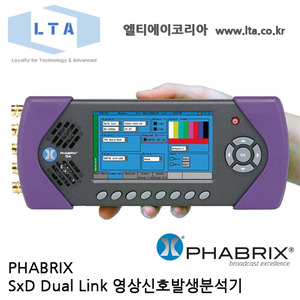 [PHABRIX SxD] Dual Link SD/HD/3G-SDI Portable Video test Signal Generator,Monitor and Analyzer
